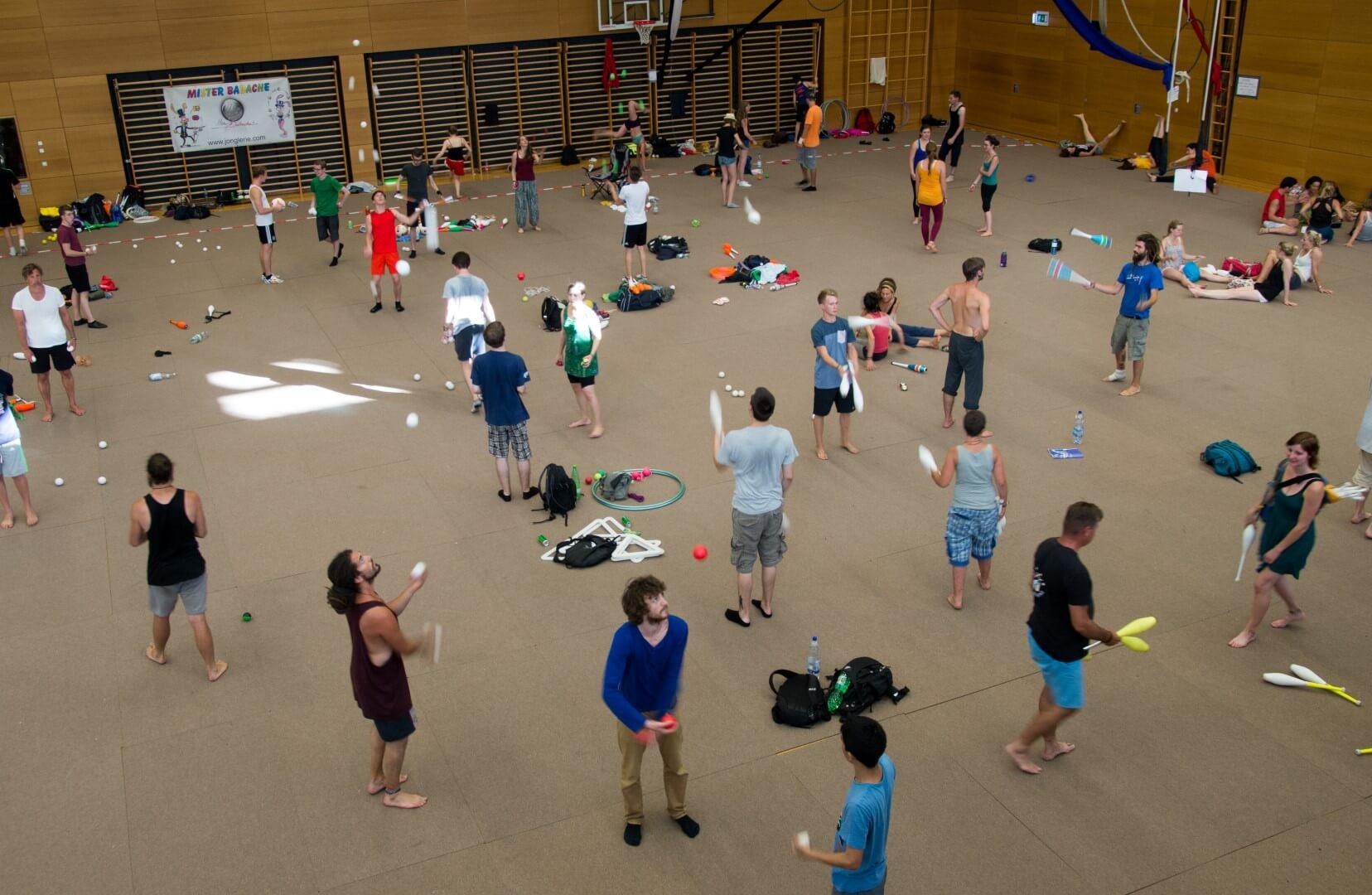 jongleringsträning, konvent