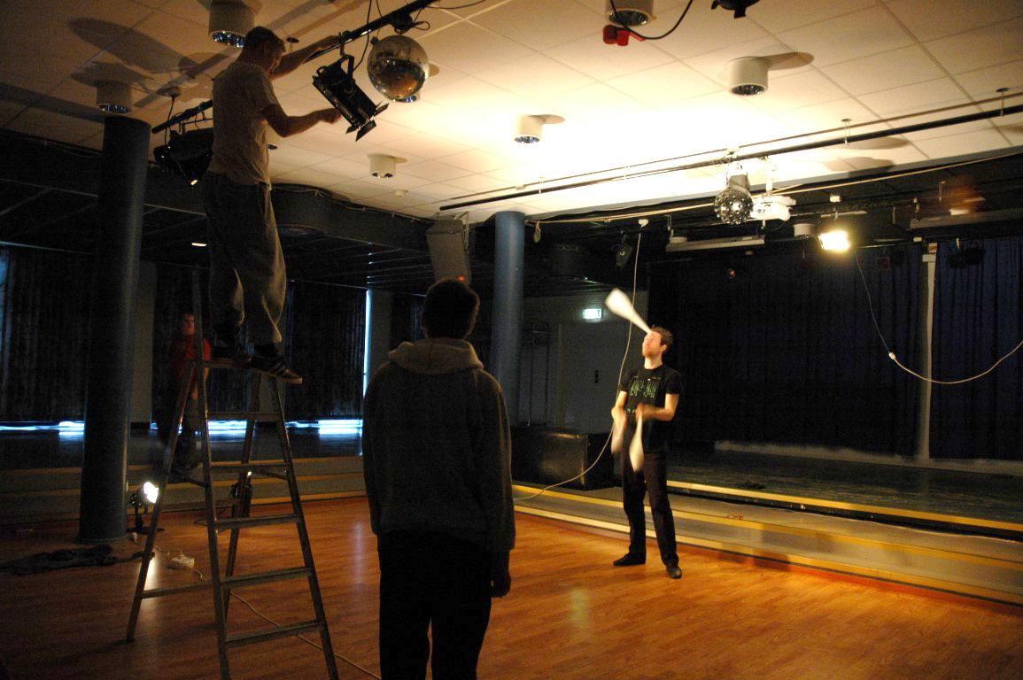 Ljusworkshop för jonglörer